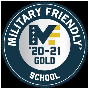 Military Friendly School Gold Ranking '20-21 Logo